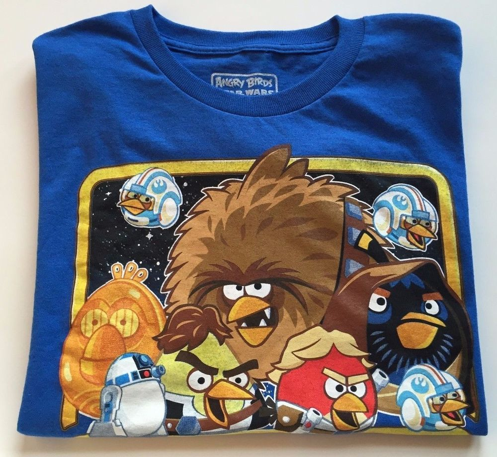 Angry Birds Star Wars T Shirt Youth Size L Blue Short Sleeve Cotton Tee | Angry  birds star wars, Star wars tshirt, Cotton tops