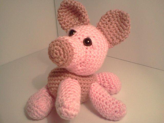 Logan Baby Pig Ami\'Pal Amigurumi Stuffed Piglet pattern by Mary ...