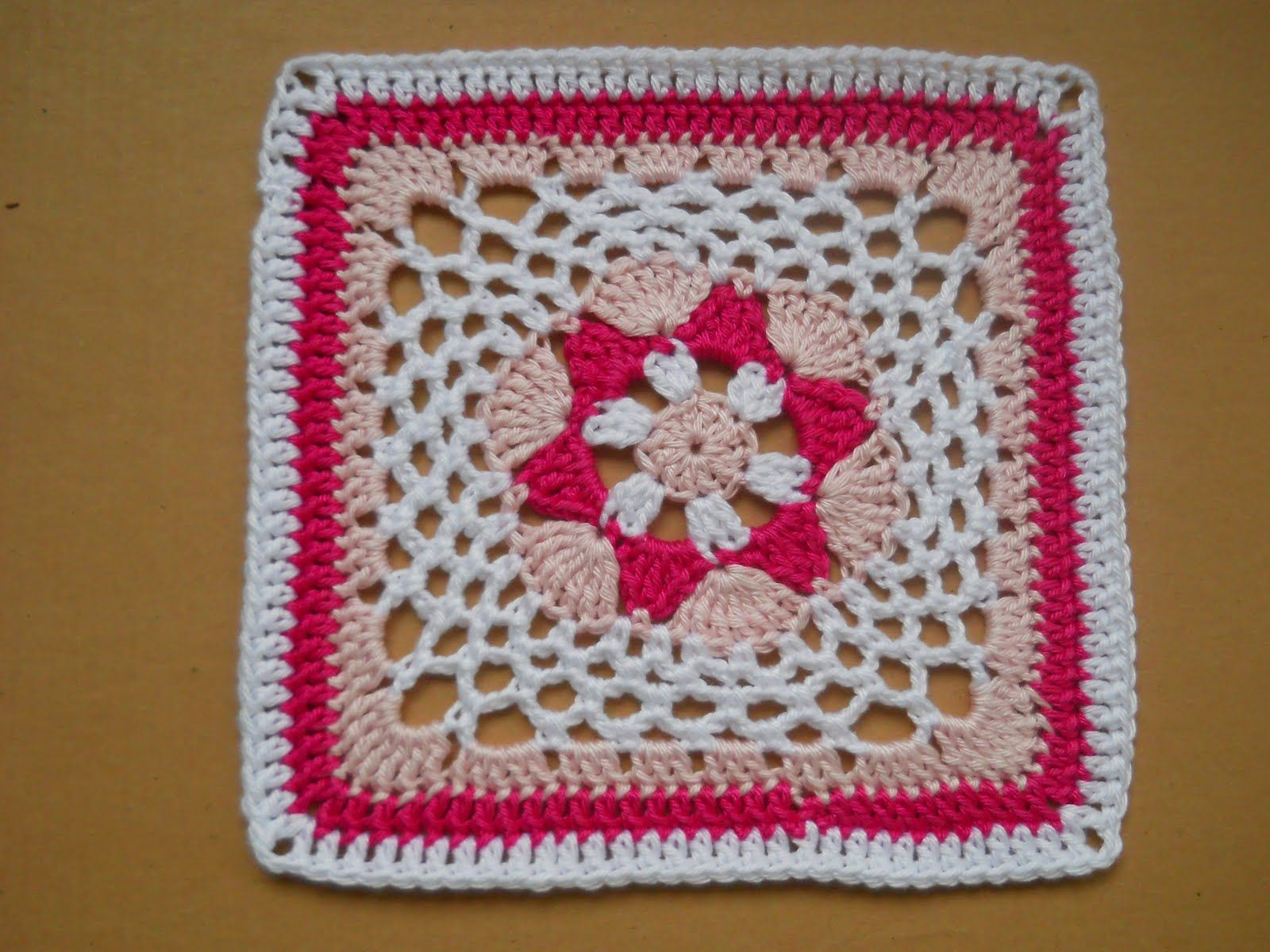 hexagon afghan granny square | mei project squares | Pinterest
