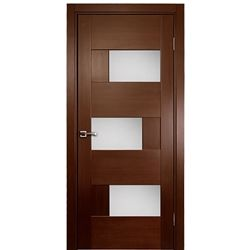 Dominika Glass 1 Interior Single Door Wenge Veneer Contemporary Design At Doors4Home