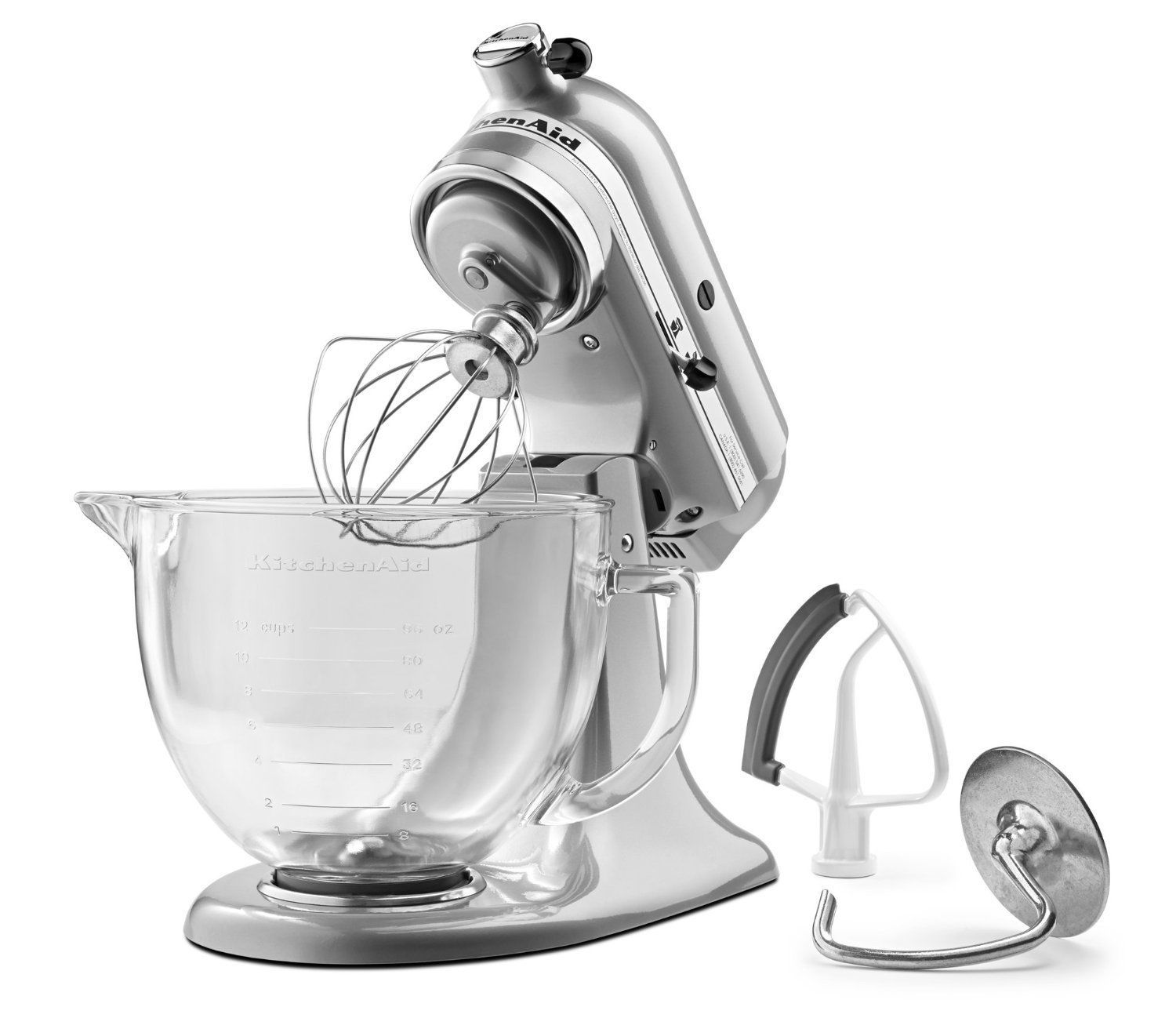 Kitchen Aid Glass Bowl Acrylic Cabinets New Kitchenaid Ksm105gbc 5 Qt Tilt Head Stand Mixer Flex Edge 2colors