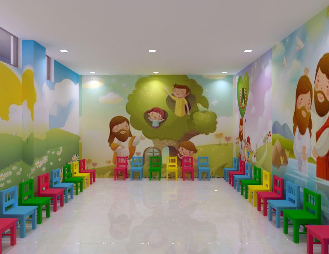 Resultado de imagen para murales cristianos infantiles - Decoracion en paredes para ninos ...