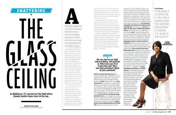 Baltimore magazine. May 2014 issue. Photography by Christopher Myers.