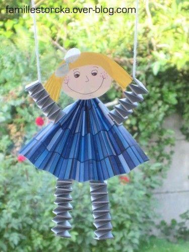 Bricolage fille papier marionnette papier pinterest - Bricolage facile avec du papier ...