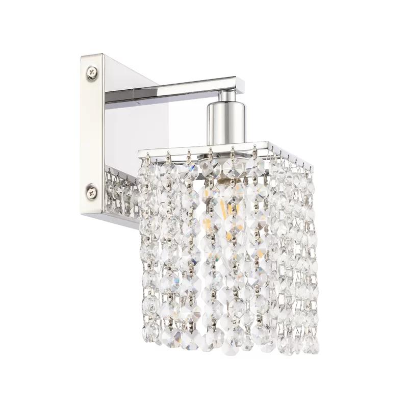 Casandra 1 Light Dimmable Armed Sconce Sconces Crystal Lighting Mercer41