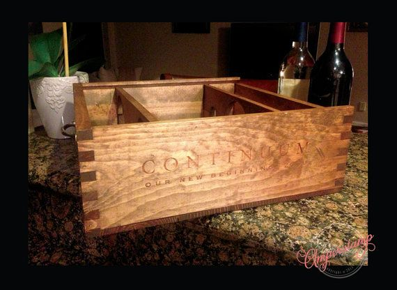 Gorgeous Wine Crate Magazine/Blanket Holder by Amperstamp on Etsy, $47.00