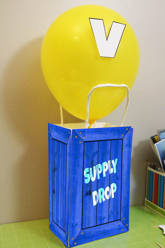 Fortnite Birthday Party Supply Drop Decoration/Party Favor