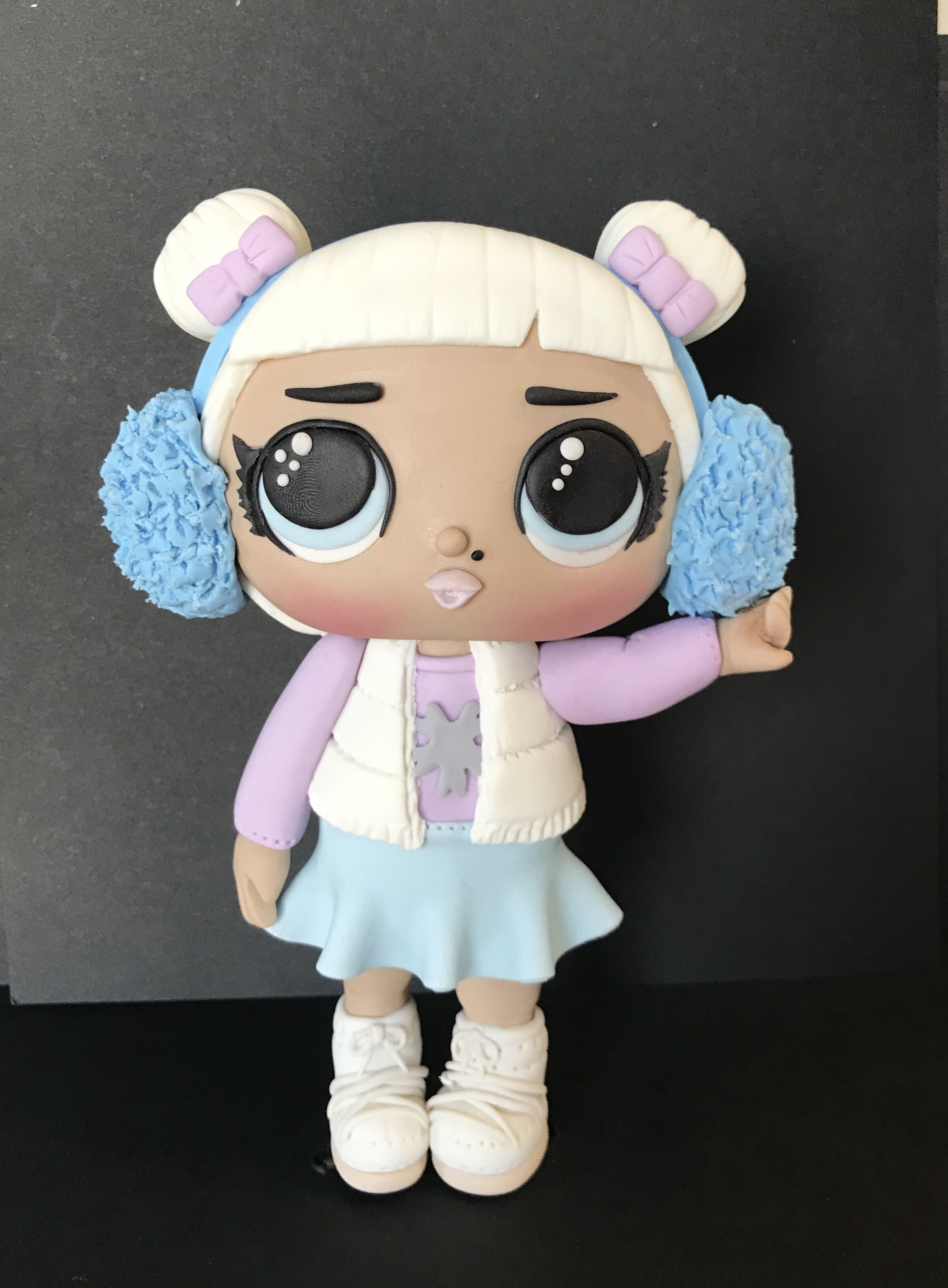 Lol Surprise Snow Angel Doll Fondant Figurine Doll Snow Angels Fondant Cake Toppers Cake Toppers