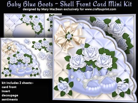Baby Blue Boots - Shell Front Card Mini Kit