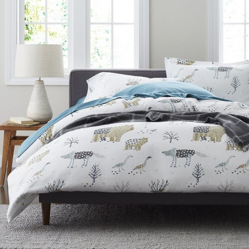 Winter Forest 5 Oz Flannel Duvet Cover Sham Our Winter Forest Flannel Duvet Cover Is Designed Wit Flannel Duvet Cover Queen Duvet Covers Duvet Covers Twin
