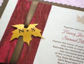 Country Rustic Maple Leaf Handmade Invitation   Imbue You Wedding