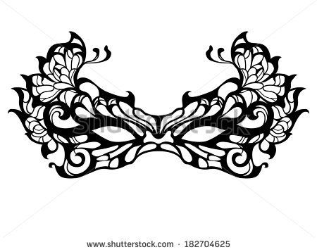 picture about Printable Masquerade Masks Template titled masquerade mask template printable  Artsy frickin