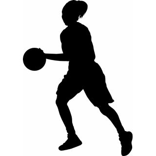 basketball girl clip art yahoo search results cricut downloads rh pinterest com Basketball Defense Clip Art Basketball Defense Clip Art