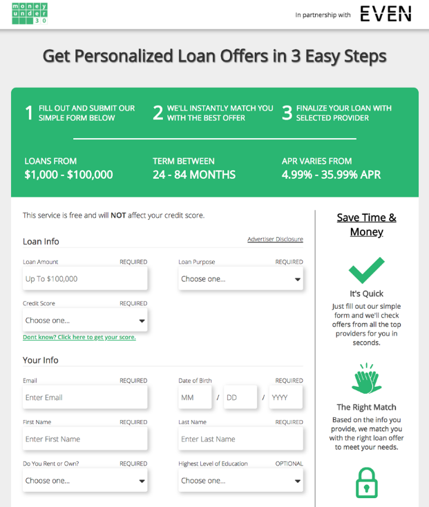 Fiona Review Find Personal Loan Quotes In Seconds Payday Loans Personal Loans Compare Credit Cards