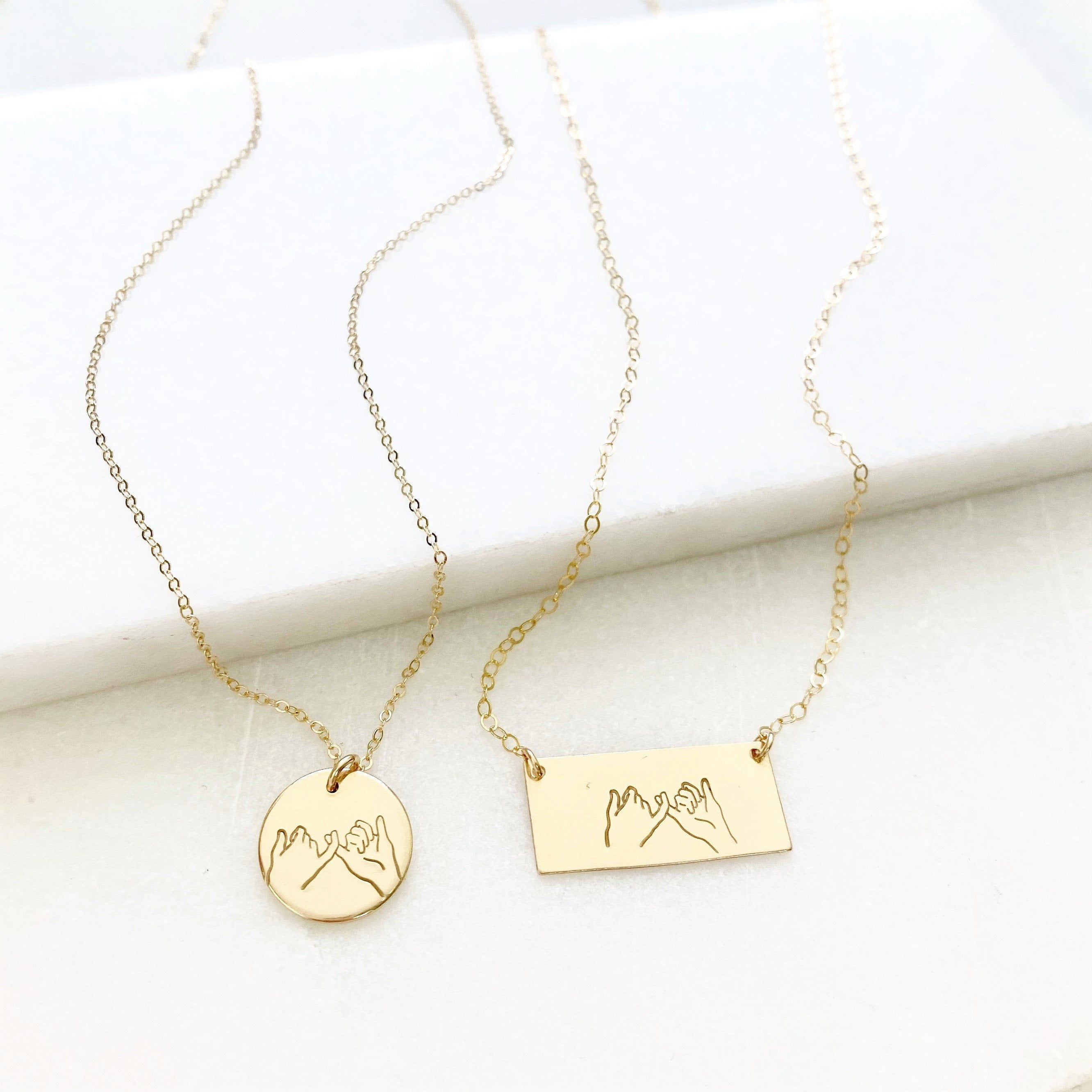 Rainbow Necklace Meaningful Gift for Friend Simple Gold Necklace