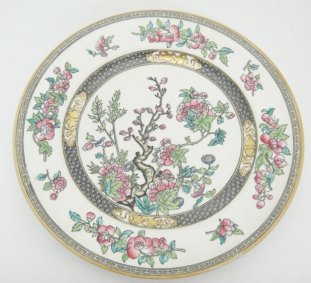 Antique Minton Indian Tree Dinner Plate 5185 Pink Flowers
