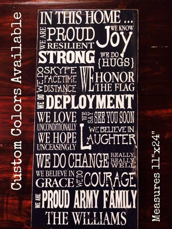 Custom Army Family Sign