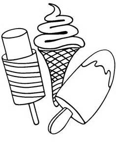Coloring Pages Various Type Of Ice Cream On Stick
