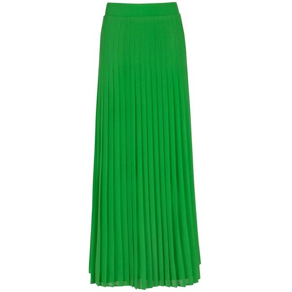 Ted Baker Miquaj Pleated Maxi Skirt, Green