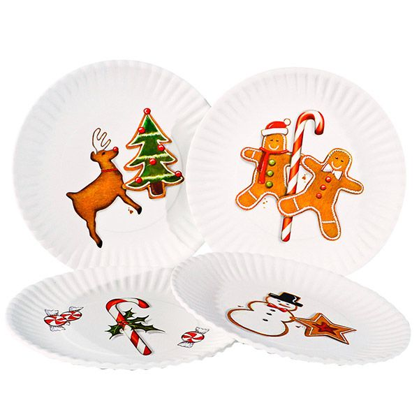Melamine holiday plate set resembling paper plates but washable and reusable. Measures 7.5  sc 1 st  Pinterest & Melamine holiday plate set resembling paper plates but washable and ...