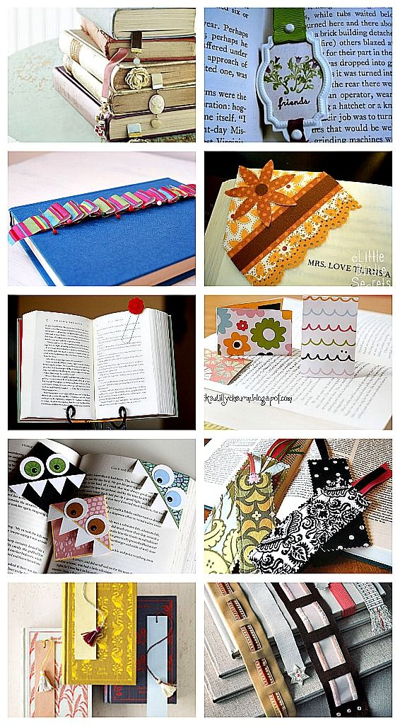 10 DIY Bookmark Tutorials - great gift ideas for the Holidays