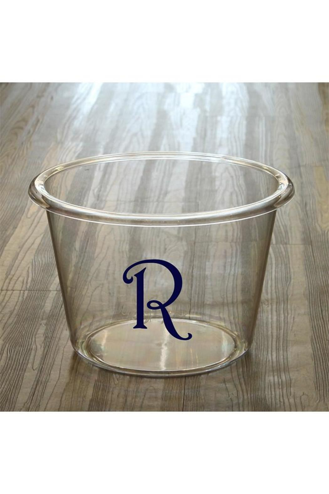 This personalized lucite beverage bucket is made from 100% BPA-free, high grade