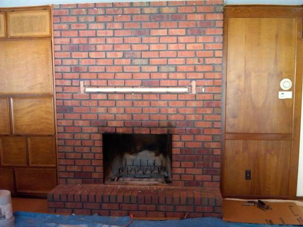 Reface Reface Fireplace Redesign Stove Stone Tile Brick