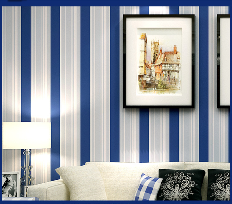 Wallpaper Stripes Dark Blue Reviews Online Shopping Wallpaper