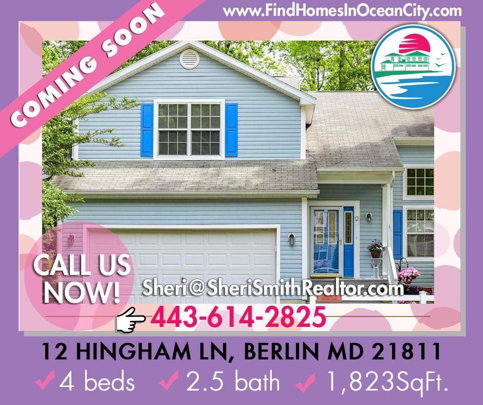 Coming Soon Listing 12 Hingham Ln Berlin Md In 2020 Hingham Foreclosed Homes Realtor License