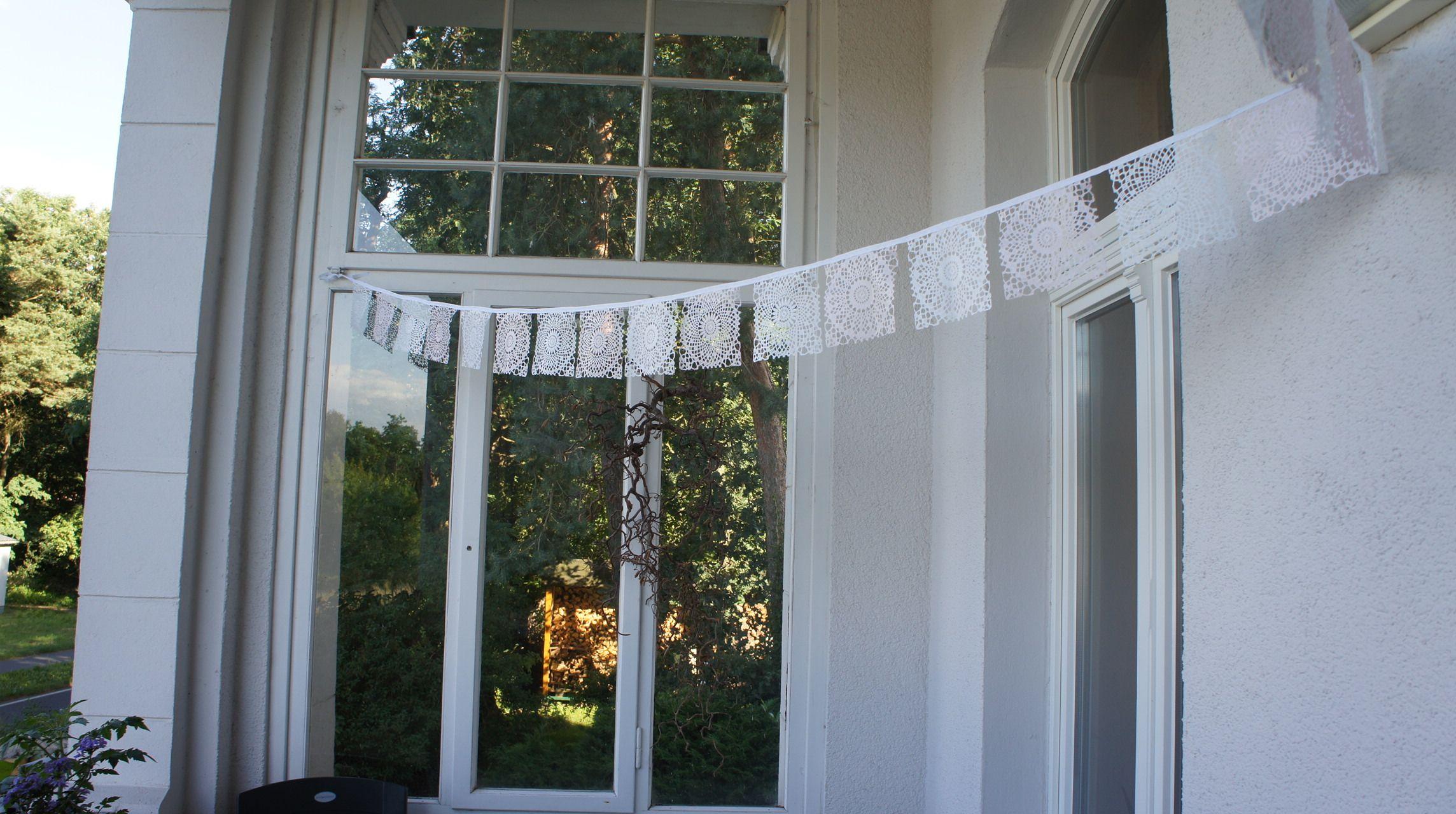 Wetterfeste Wimpelkette..schön im Garten und auf Balkonien !!!