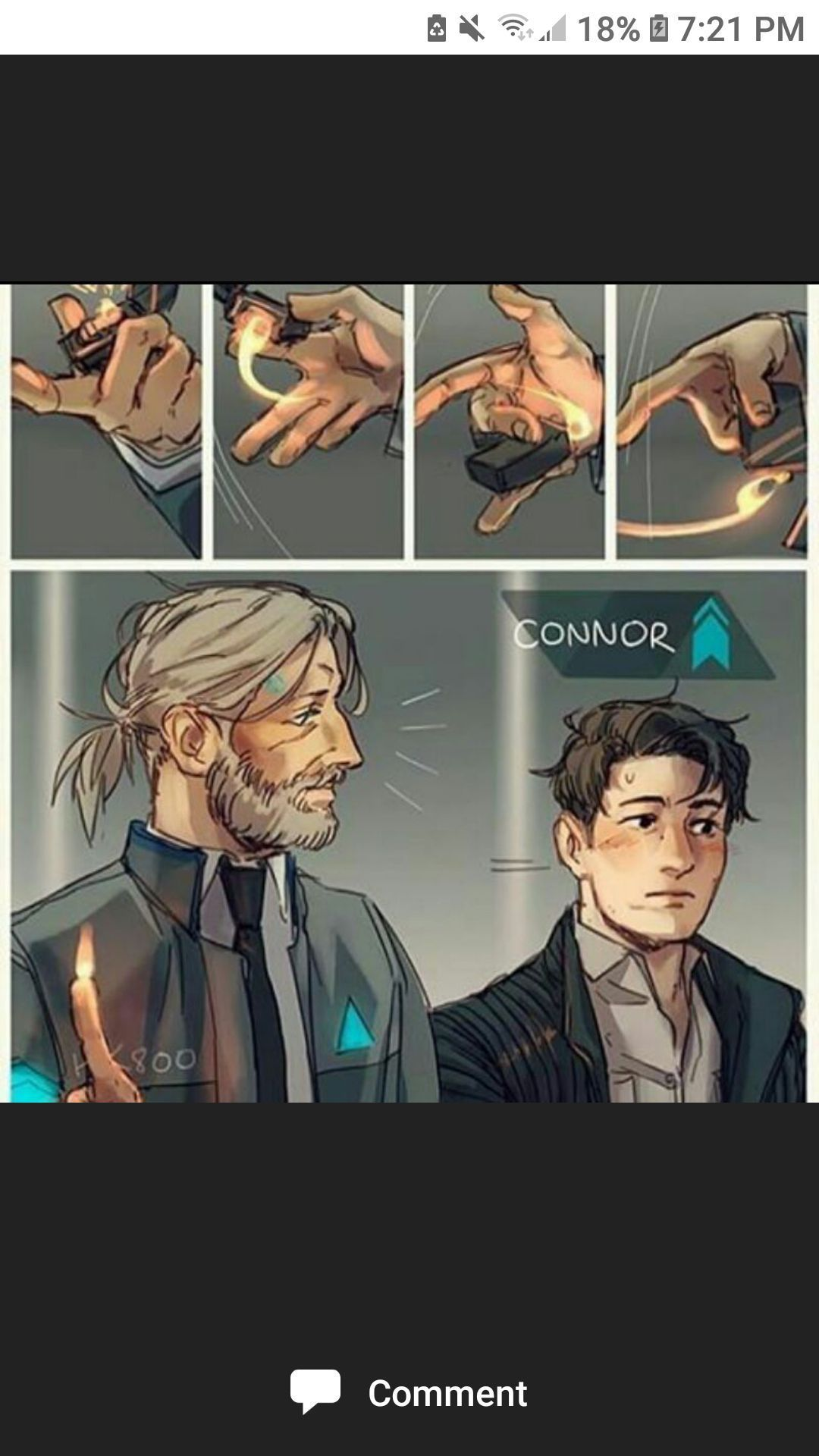 DBH Crap - Hank and Connor?