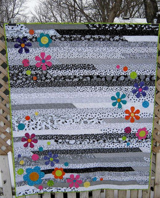 Funky Flower Jelly Roll 1600 | Jelly roll race, Jelly roll ... : jelly roll race quilt pattern - Adamdwight.com