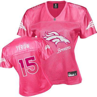 NFL Denver Broncos Tim Tebow Women's Pink Fem Fan Jersey