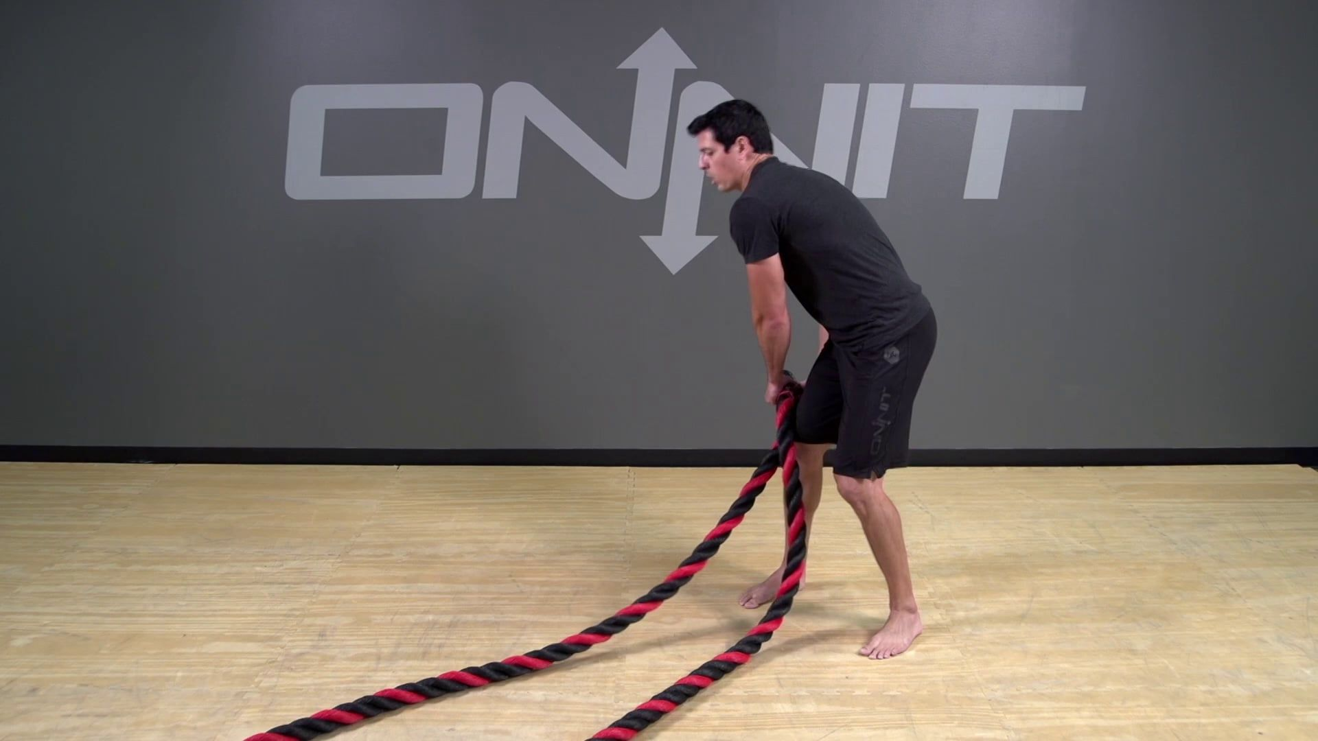 Battle Rope Exercise Hip Toss Onnit Academy Battle Ropes Rope Exercises Onnit Academy
