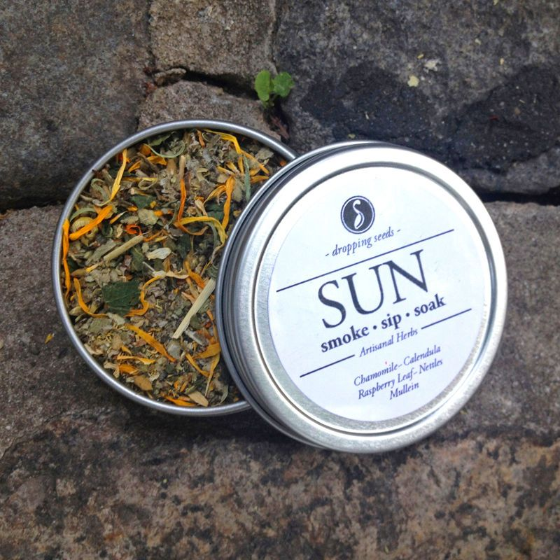 SUN Herbal Smoking Blend  4oz Tin • Smoke   Sip   Soak