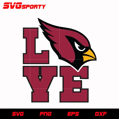 Arizona Cardinals Love Svg Nfl Svg Eps Dxf Png Digital File Arizona Cardinals Arizona Cardinals Logo Arizona Cardinals Football