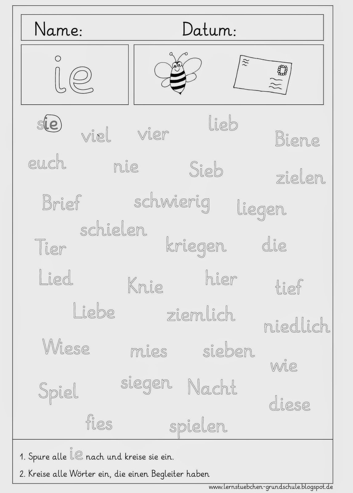15 Arbeitsblatt Ie Grundschule