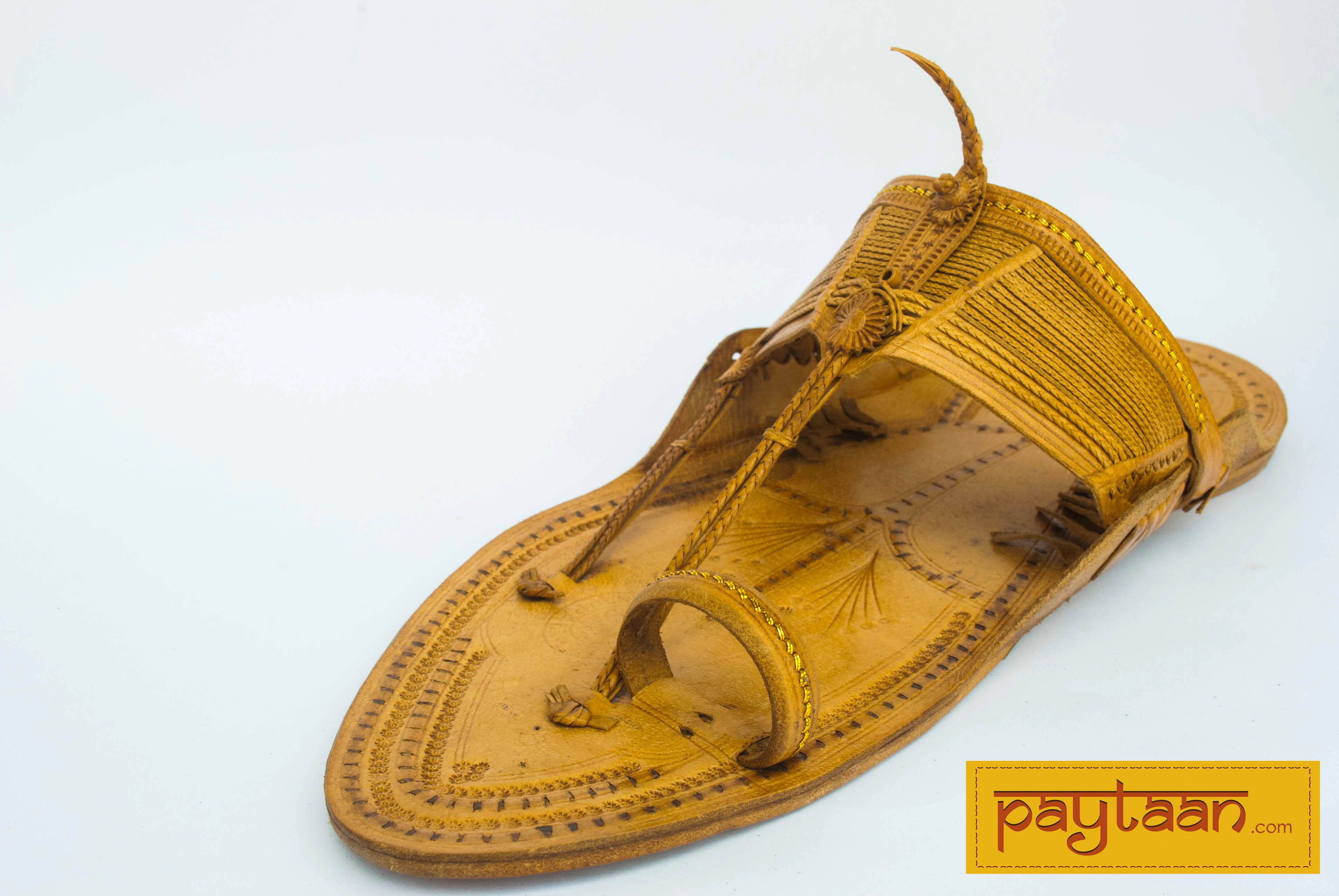 Kolhapuri leather footwear lavish by means and guise the name