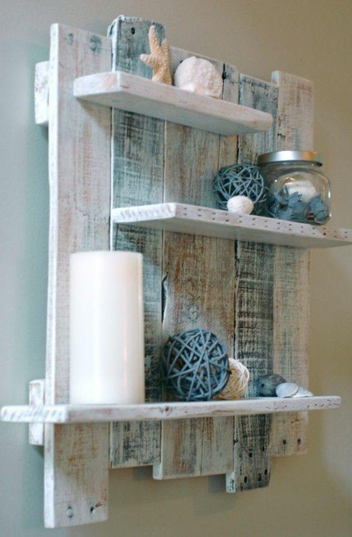 tag re en palette de bois une bouff e d inspiration rustique meubles pinterest tag res. Black Bedroom Furniture Sets. Home Design Ideas