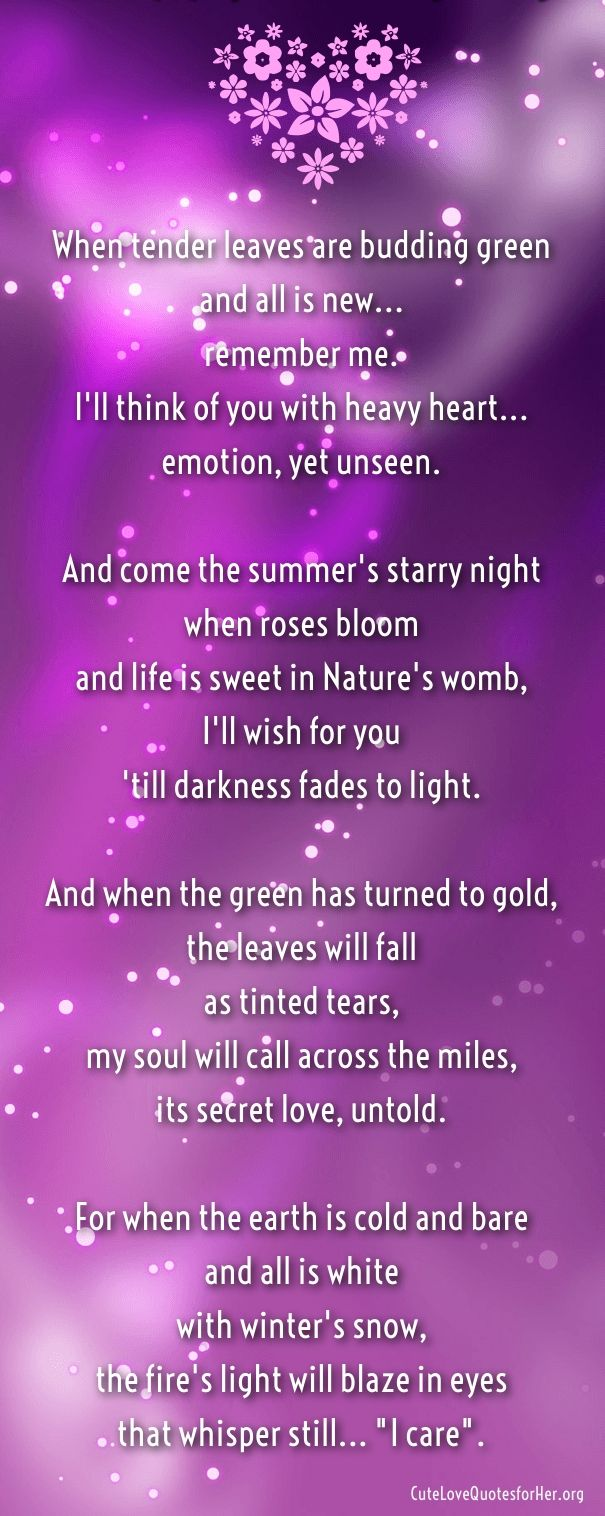 Pin On Cute Love Poems For Her Him