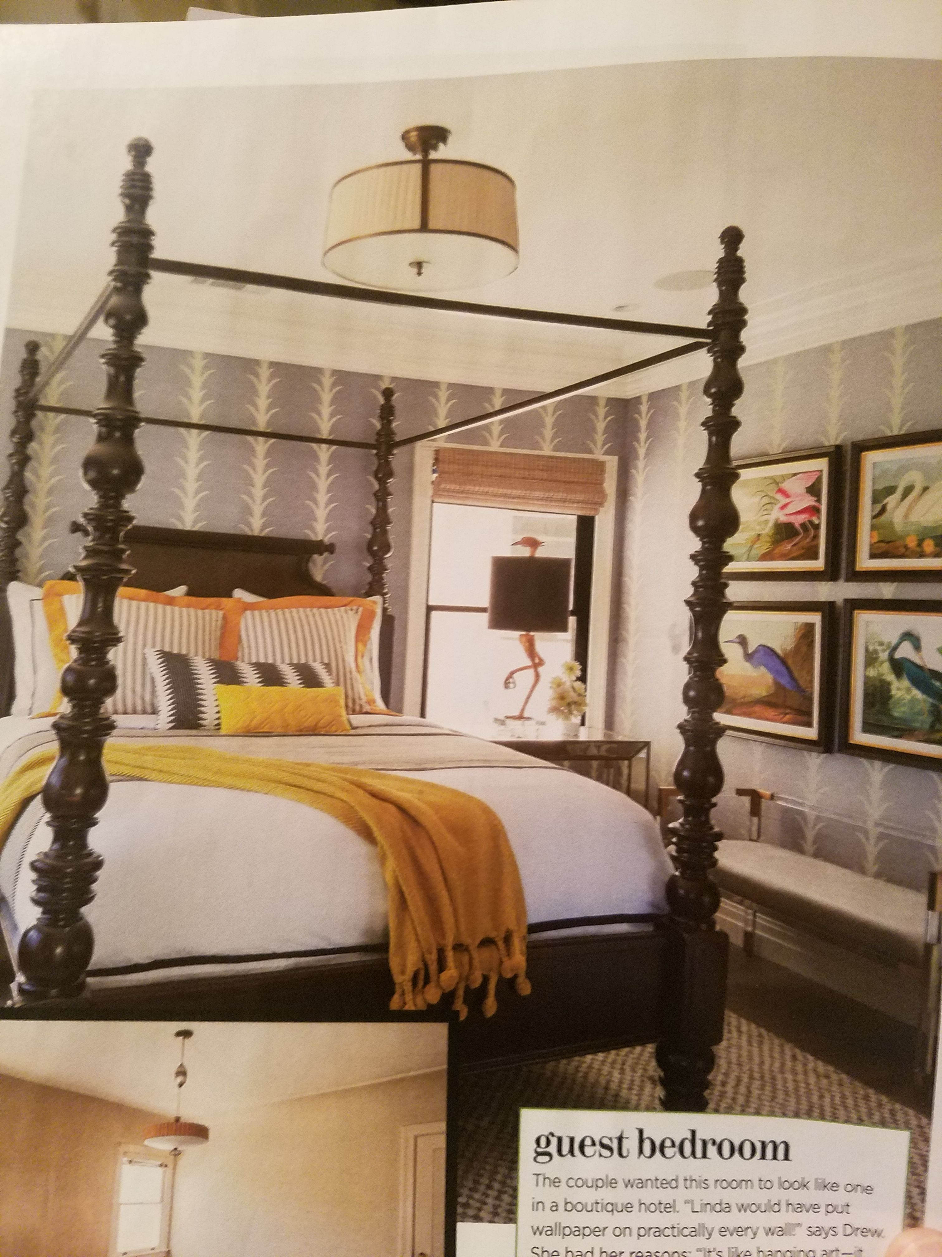 In The New HGTV Magazine    Drew Scott Used This Tommy Bahama Bed In A