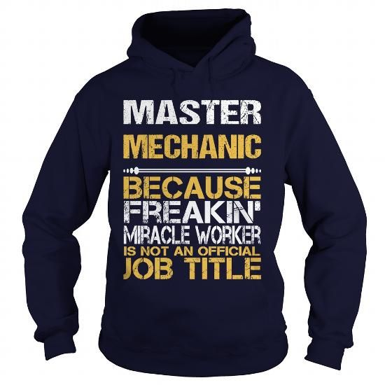 MASTER MECHANIC Because FREAKING Awesome Is Not An Official Job Title T Shirts, Hoodies. Check price ==► https://www.sunfrog.com/LifeStyle/MASTER-MECHANIC--FREAKIN-Navy-Blue-Hoodie.html?41382