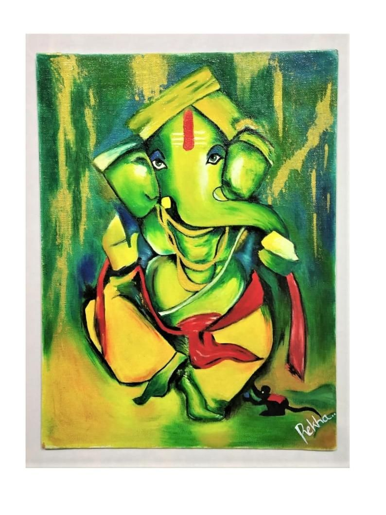 Hand Painted Original Painting Indian God Art Oil Painting On