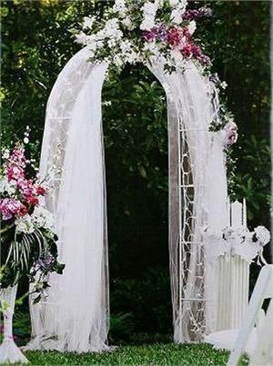 Decorative metal wedding arch white 55wx90h metal wedding decorative metal wedding arch white 55wx90h junglespirit Choice Image