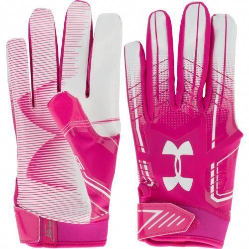 aae9b384c Under Armour Men s F6 Football Gloves Pink White - Football Equipment
