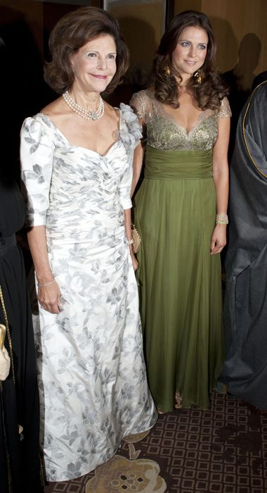 Royal beauties Princess Madeleine and her mother  Queen Silvia of Sweeden attend gala evening