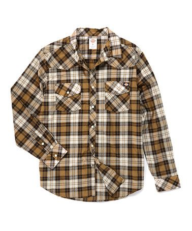Another great find on #zulily! Duck Plaid Western Button-Up - Men & Big by Dickies #zulilyfinds