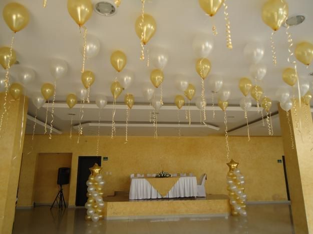 Decoracion de salones con globos buscar con google hb for Decoracion con globos