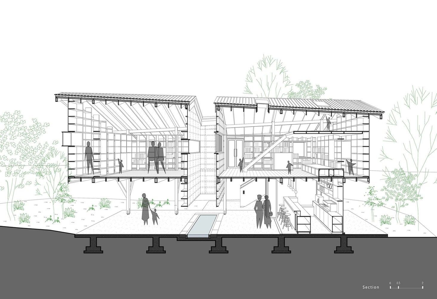 Gallery Of Mountain House In Mist Shulin Architectural Design 40 Architecture Drawing Architecture Details Architecture