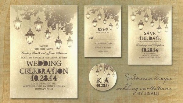 Vintage Wedding And Party Invitations